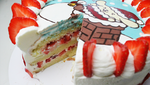 PomPomPurin Christmas Cake Sliced + Recipe + Video by SweetMissCreation