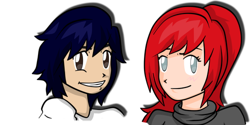 Kacy and Alena Headshots by Gomamon4life