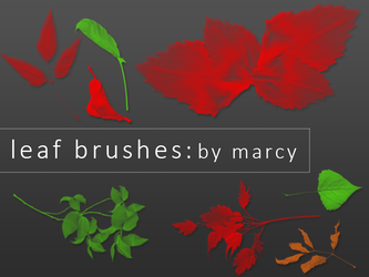 Leaf Brushes by l3rainy
