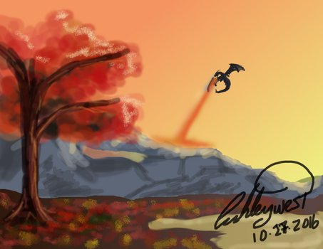 Fall Dragon by Whyled-Card