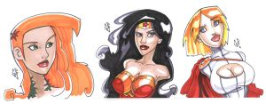 DC Girl's busts by Axigan