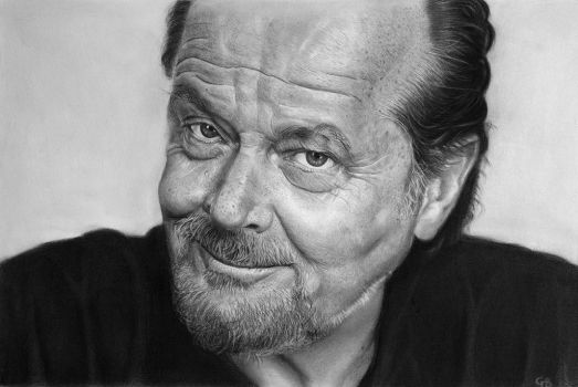 Jack Nicholson portrait (Pencil drawing) by giacomoburattini