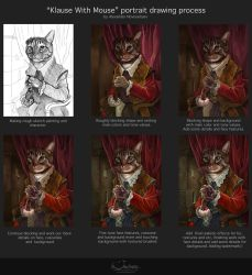 Process of painting Klaus with mouse by creaturedesign