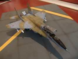 mig-29UB Front view by NightRaven1