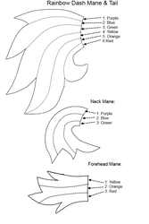 Rainbow Dash Mane Tail Pattern by Special-Measures