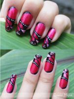 Butterfly nails by yuki365