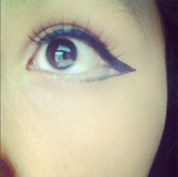 Lolita eye makeup WITH FAKE EYE LASHES by XXRobinRavenXX