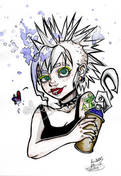 punk girl drawing by fini2605