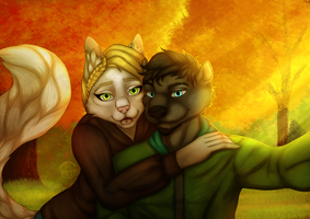 [ COMMISSION ] Sam and Kiko's selfie by Marchef-Iustinianie