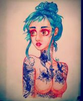 Tattoo Girl by SicodelicRainbow