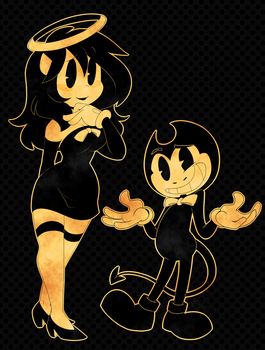 TM Angel And TC Bendy by ToxicSoul77