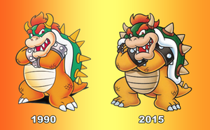 Bowser Artwork 25 years. by PxlCobit
