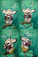 Lyudmylah the ice Deer- Head Bridle by temperance