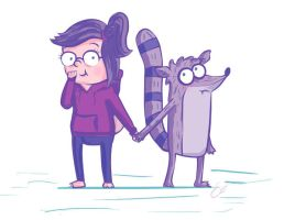 Rigby/ Eileen - just regular hand holding by Sariiix3