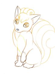Pokemon Sketch request 05 - Vulpix by Azouie