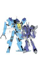 Botcon 2014 Cyclonus and Whirl print by TGping
