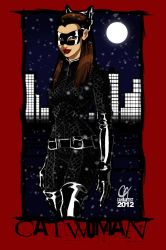 Anne Hathaway Catwoman by Cahnartist