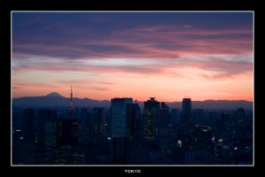 Tokyo Sunset with Fuji-san by Keith-Killer