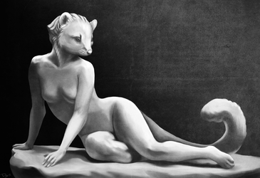 The Lost Sculpture of Marten Lady by Domisea