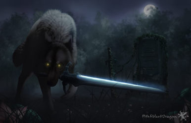 Great Grey Wolf Sif by PitchblackDragon