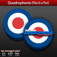 Icons- Quadrophenia (Plain and with Text) by KaizenNeko
