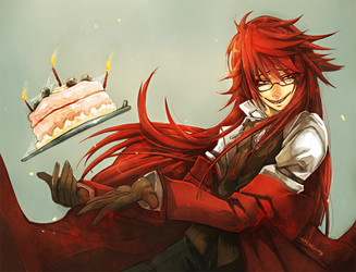 Grell's Home Made Cake by wickedalucard