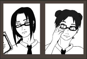 Neji and Tenten _ AU by crooquete