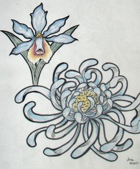 Flower tattoo concepts by theangellilith