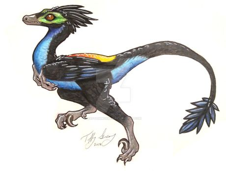 Raptors of Paradise - Paradise Tanager by CaptainMorwen