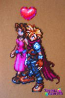 Cloud X Aeris Bead Sprite by SerenaAzureth