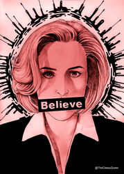 *Believe* Dana Scully Red Version by theclassyqueer