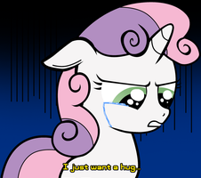 Crying Sweetie Belle by ZSparkonequus