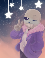 Sans and star remake by Alkiton