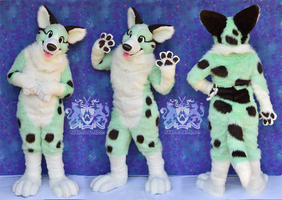 Doggyminto Fursuit by LobitaWorks
