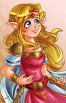 Princess Zelda - A Link Between Worlds by Laurence-L