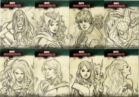 Marvel Sketch Cards Group 2 by artbytravis
