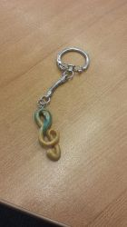 Treble Clef Keychain by RamenG553