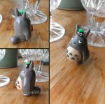 Totoro and Soot Sprite sculpt by PastYourPorchlight