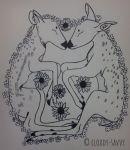 sleeping fawns inked by cloudy-savvy