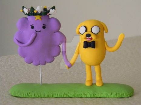 Adventure Time Wedding Cake Toppers Polymer Clay by ThePetiteShop