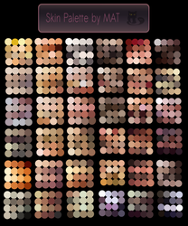 Skin Palette for MyPaint V2 by MeryAlisonThompson