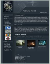 Navy FractaL CSS Journal by VikingWasDead
