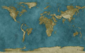 Flooded World Map by vladstudio
