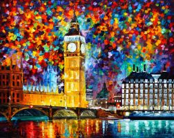 Big Ben London by Leonid Afremov by Leonidafremov