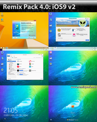Ios9 v2 on Remix Pack 4.0 (Customizable Pack) by Niwradsoft