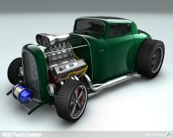 1932 Ford V8 Custom by AfroAfroguy