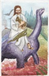 Jesus and the dinosaurs by manchadetinta