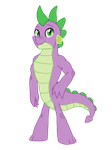 Spike all grown up by Eeveewhite97