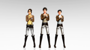 SnK Salute Pose Data DL by Lebasy