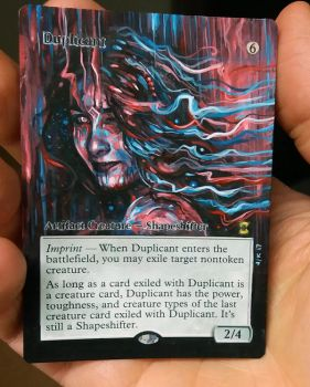 Altered Magic Card: Duplicant 17a by Ondal-the-Fool